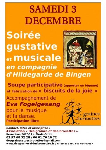 Soirée gustative et musicale : samedi 3 décembre 2016