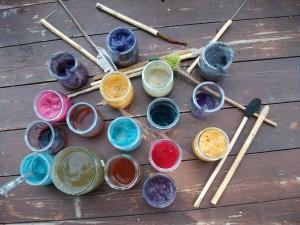 Palette de peinture végétale